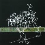 Buiten, 2012, gipsplaatcollage, 42,5x 42,5 cm