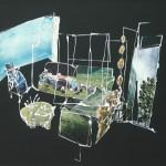Huiskamer, 2011, gipsplaatcollage, 58 x 55 cm