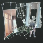 Interieur III, 2011, gipsplaatcollage, 41x 41 cm