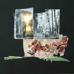 Interieur V, 2011, gipsplaatcollage, 42,5x 42,5 cm
