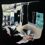 Slaapkamer, 2010, gipsplaatcollage, 50x50 cm