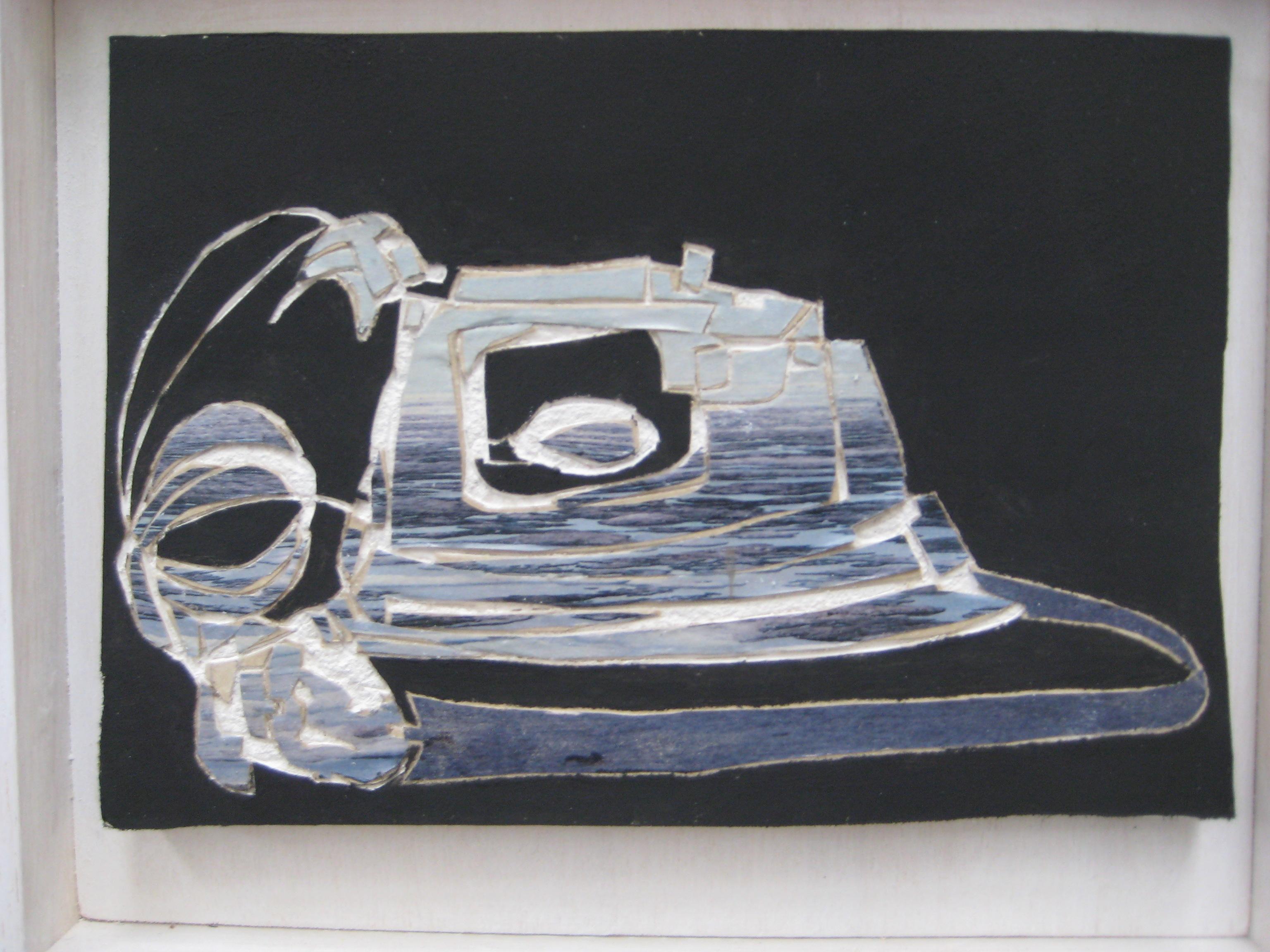 De Zee, 2010, gipsplaatcollage 20x14 cm