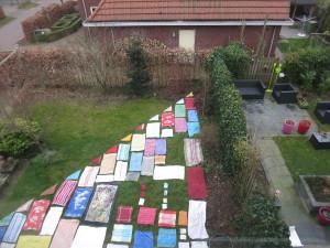 uitslag van het huis, 2015, textiel