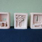 interieurkleiwerk,trio, 2014, voor