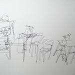 Interieur atelier 3, 2010 lijntekening, fineliner